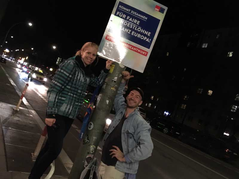 SPD Plakatierung zur Europawahl 2019